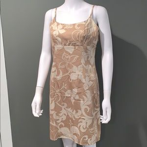 Local motion WOMANS cream floral printed dress szL